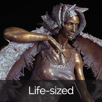 Luna by Ellen Tykeson: Life-sized Bronze Sculpture