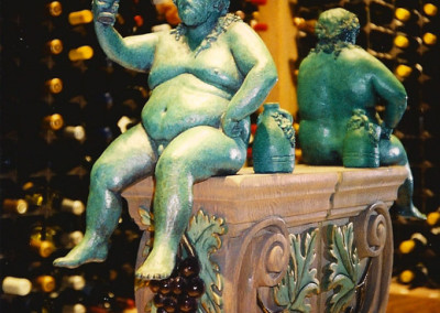 Bacchus by Ellen Tykeson: In the wine cellar