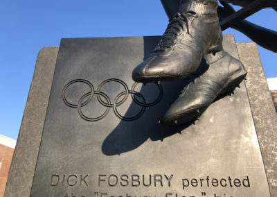 Dick Fosbury Sculpture Detail by Ellen Tykeson