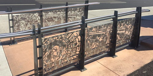 Stainless Steel Wild Turkey Panels by Ellen Tykeson